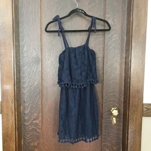 Navy tassel dress